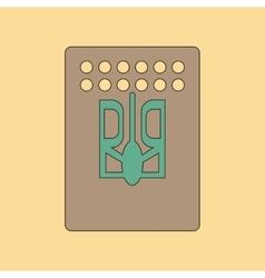 Flat icon on background emblem of Ukraine vector