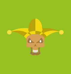 Flat icon on theme humor scary jester vector