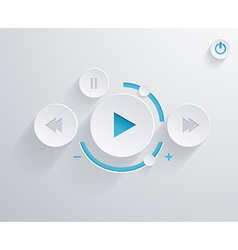 Flat multimedia player for web and mobile apps vector image