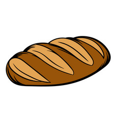 Fresh bread can icon cartoon vector
