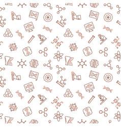 Genetics outline minimal seamless pattern vector