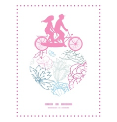 gray and pink lineart florals couple on vector image