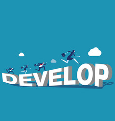 growthcorporate people and develop concept vector image