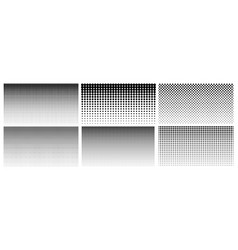 halftone gradient dotted gradient smooth dots vector image