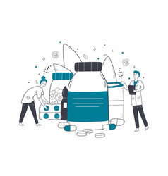 healthcare medicine checkout pharmacy concept vector image