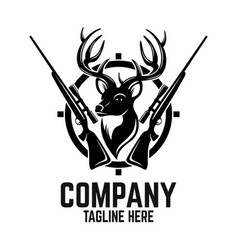hunting deer logo vector image