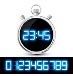 icon watch with a digital display vector image