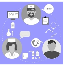 Icons on topic medical examination vector
