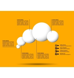 Infographics with group of flying white balls vector