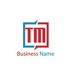 Initial letter tm logo template design vector