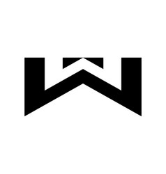 initial w twin logo design vector image