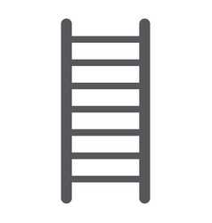 ladder glyph icon stair and climb fire ladder vector image