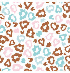 Leopard skin fur print colorful seamless pattern vector