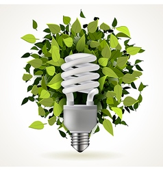Light energy saving lamp vector image