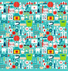 medicine tile pattern vector image