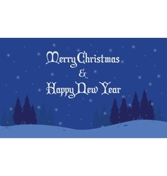 Merry Christmas backrgounds landscape collection vector image