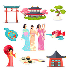 National japan landmark japanese sign vector