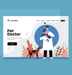 Pet doctor with dog concept p vector