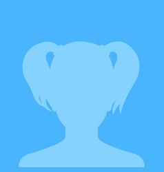 Profile placeholder female avatar in blue tones vector