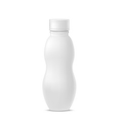 realistic template blank white yoghurt bottle pack vector image