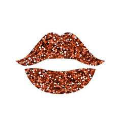 red lips with sequins vector image