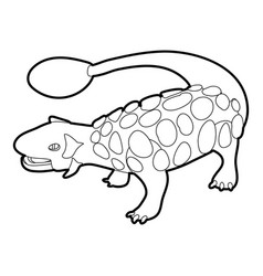 Scolosaurus icon outline vector