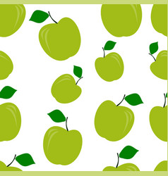 seamless pattern of green apples vector image