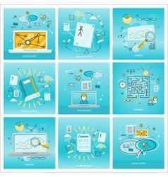 Set of social media backgrounds vector