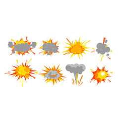 set smooth explosion vector image