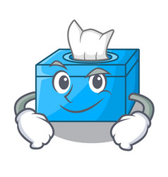 Smirking cartoon tissue box in the restaurant vector