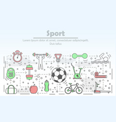 sport advertising in flat vector image