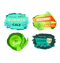 summer sale and discount set vector image