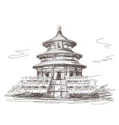 Temple heaven in beijing vector