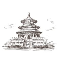 Temple of Heaven in Beijing vector