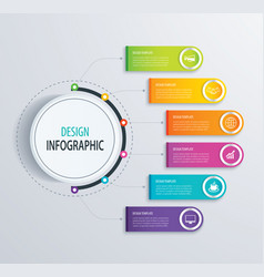 Timeline infographic design and marketing vector