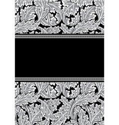 vector damask frame vector image