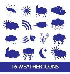 weather icons set eps10 vector image