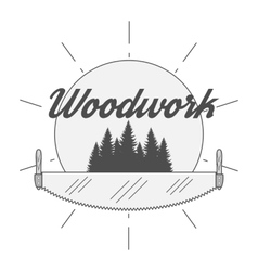 Woodwork Industry Badge vector