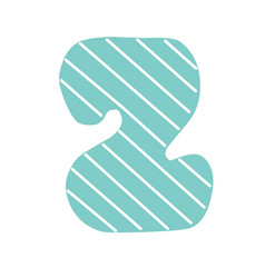 z decorated letter flat style vector image