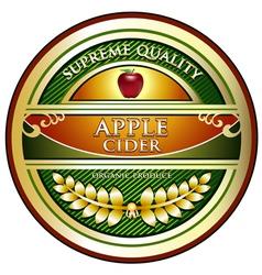 Apple Cider Vintage Label vector image