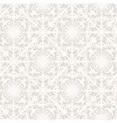 Baroque damask seamless background vector image