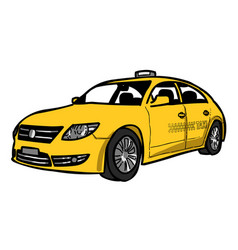 cartoon image of taxi icon car symbol vector image vector image