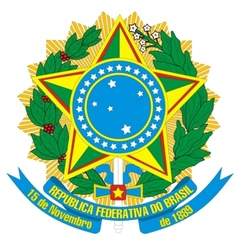 coat of arms of Brazil vector image vector image