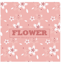 flower sakura pattern pink background image vector image