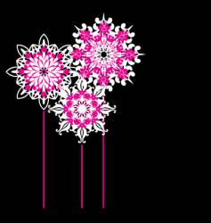 ornate flowers vector image vector image