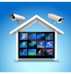 Video security concept vector image vector image