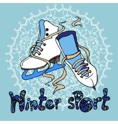 Winter sport vector image