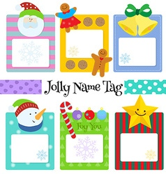 witer name tag vector image