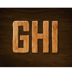 Alphabet made of wood vector image vector image