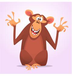 cool cartoon monkey character icon vector image
